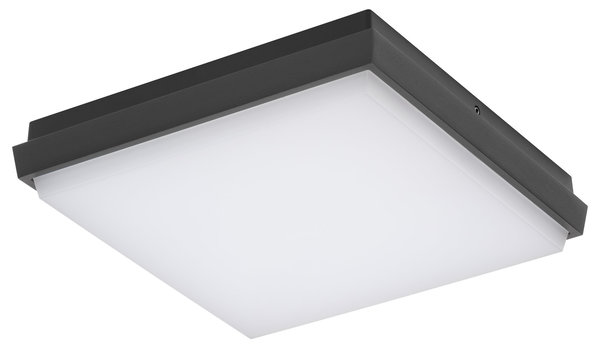 LCD Wand- / Deckenleuchte LED 240x240mm Graphit 5061